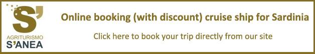 Online booking cruise ship for Sardinia